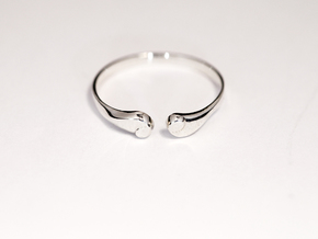 ea ring in Polished Silver