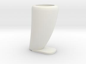Dinosaurs tooth flowerpot in White Natural Versatile Plastic