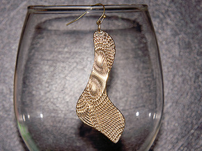 Texture Earring #3 in Raw Brass