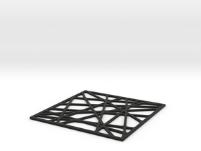 Drink Coaster  in Black Natural Versatile Plastic