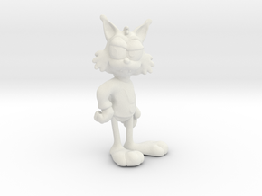 Bubsy 3D could've been a lot better! in White Natural Versatile Plastic