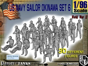 1/96 US Navy Okinawa Set 6 in Smooth Fine Detail Plastic