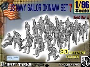 1/96 US Navy Okinawa Set 7 in Smooth Fine Detail Plastic