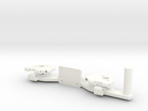 PHANTOM 2 - LEG HINGE PART 1 (COMPASS MOUNT) in White Processed Versatile Plastic