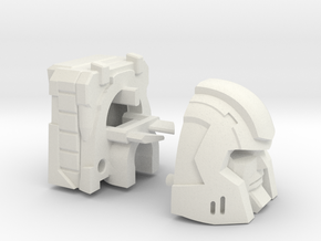 Little Heracles' Head for Combiner Wars Jeeps in White Strong & Flexible