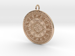 Meechie Pendant in 14k Rose Gold Plated Brass