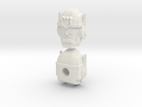 Chase Combiner Wars Head (4mm ball socket) in White Strong & Flexible