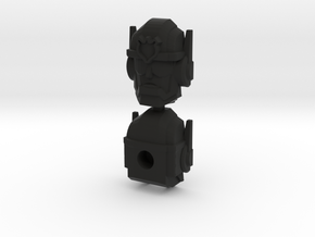 Chase Combiner Wars Head (4mm ball socket) in Black Natural Versatile Plastic