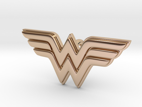 Wonder Woman Pendant in 14k Rose Gold Plated