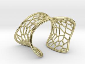 Voronoi Cuff Bracelet in 18k Gold