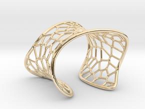 Voronoi Cuff Bracelet in 14k Gold Plated Brass
