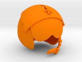1/4 helicopter pilot helmet single in Orange Strong & Flexible Polished