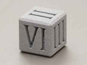Roman Die (20mm) in Polished Metallic Plastic
