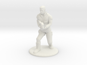 Soldier Crouching With P90- 20 mm in White Strong & Flexible