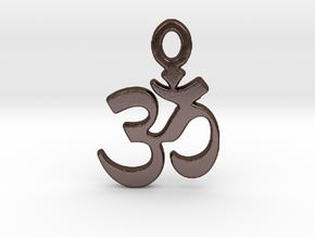 YOGA AUM Pendant 2 in Polished Bronze Steel