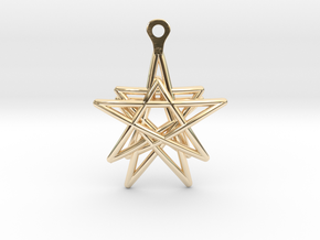 3D Printed Star in the Universe Earrings by bondsw in 14K Yellow Gold