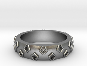 3D Printed Be a Little Different Punk Ring Size 7  in Natural Silver
