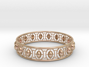 Bracelet 5 in 14k Rose Gold Plated Brass