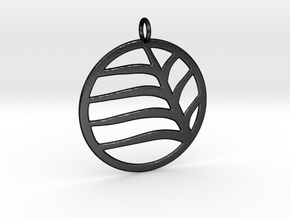 Leaf Pendant in Matte Black Steel