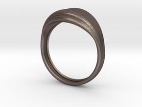 Sencillo in Polished Bronzed Silver Steel