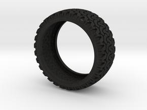 Tire in Black Acrylic