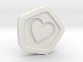 3D Printed Bond What You Love Stud Earrings in White Natural Versatile Plastic