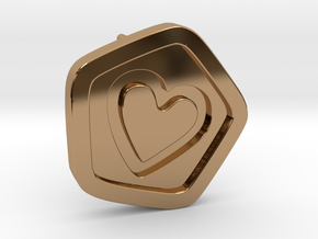 3D Printed Bond What You Love Stud Earrings in Polished Brass