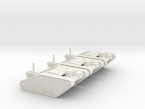 15mm AQMF Tank Shells (3) in White Natural Versatile Plastic