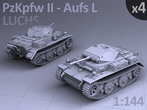 PzKpfw II ausf L - LUCHS  (4 pack) in Smooth Fine Detail Plastic