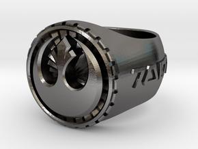 Rebel Ring 26mm in Polished Nickel Steel