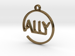 ALLY First Name Pendant in Polished Bronze