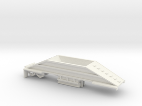 000401 Bottom Dump Trailer in White Natural Versatile Plastic: 1:87 - HO