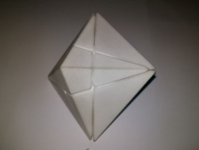 Star Skewb in White Natural Versatile Plastic