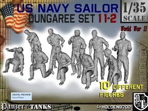 1-35 US Navy Dungaree Set 11-2 in Frosted Ultra Detail
