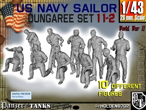 1-43 US Navy Dungaree Set 11-2 in Frosted Ultra Detail