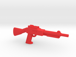 Minifigure Pump Shotgun in Red Processed Versatile Plastic
