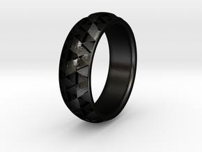Hexmo Ring in Matte Black Steel