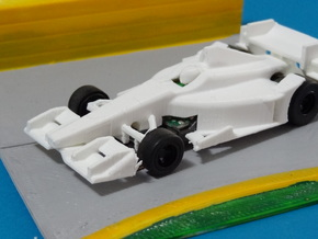 HO 2016 Indy Car Body in White Processed Versatile Plastic