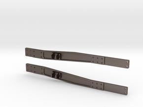 Rear Frame Cradles in Polished Bronzed Silver Steel