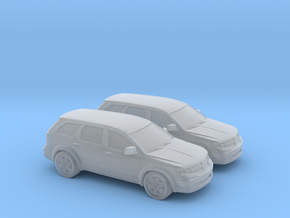 1/148 2X 2009 Dodge Journey in Smooth Fine Detail Plastic