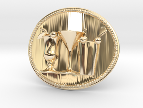 Cocktail Party Belt Buckle in 14K Yellow Gold