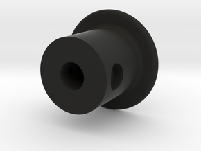 Reverse Knob in Black Natural Versatile Plastic