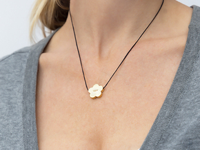 pendant Flower Your Day -low- in Polished Brass