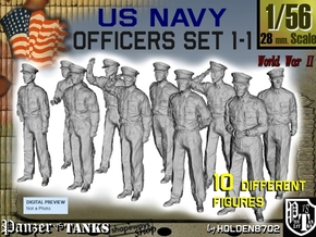 1-56 USN Officers Set1-1 in Smooth Fine Detail Plastic