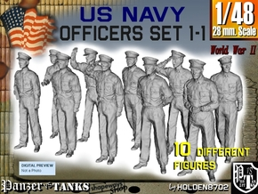 1-48 USN Officers Set1-1 in Smooth Fine Detail Plastic