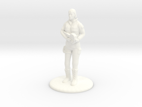 Soldier with P90 - 20 mm in White Strong & Flexible Polished