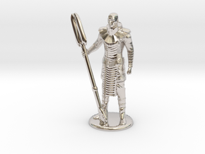 Jaffa Standing Guard -20 mm in Rhodium Plated Brass