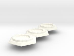 Fantasy Sewer Grate Hex x3 Batch in White Processed Versatile Plastic