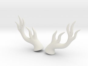Dryad Antlers: Medium size for Humans in White Natural Versatile Plastic