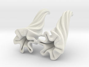 Small Horns: Deep Groove Spiral in White Natural Versatile Plastic
